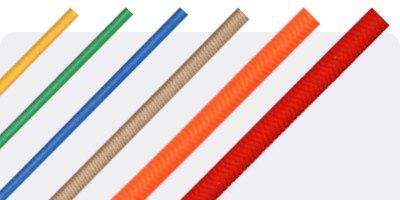 Elastic braided cords