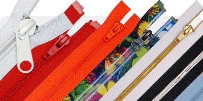 Polyester coil zippers