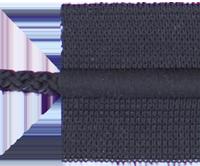 Zsinórbetétes gumi szalag fekete 35mm