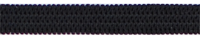 Gumiszalag fekete 6mm