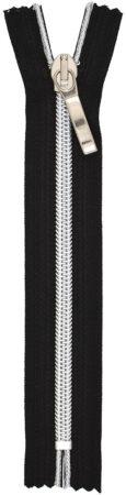 RT10 fém hatású cipzár ezüst/fekete